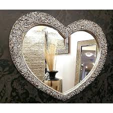 large champagne wall mirror heart ornate silver french roses gold