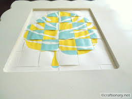 woven stencil leaf with 3d effect tutorial paper wall art3d