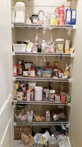 messy wire shelves in pantry pantry makeover