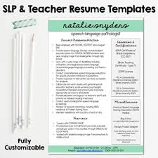 SLP & Teacher Resume and Cover Letter Templates - Fully Editable