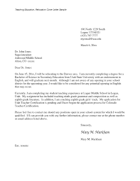 Cover Letter For Biology Teacher Position Corptaxco Com