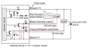 robust photoelectric sensor rx i o circuit and wiring diagrams i o circuit diagrams retroreflective and diffuse reflective type sensors