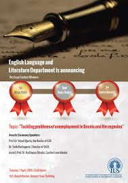 english language and literature department is announcing the  english language and literature department is announcing the essay contest winners