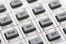 image of trigonometry calculator keys