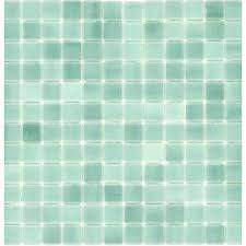 elida ceramica recycled artic green glass mosaic square indoor outdoor wall tile common