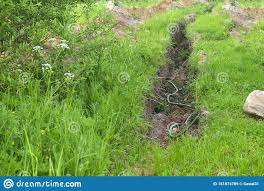 Drainage Channel Design Drainage Ditch Drainage Channel To Drain The Area Land