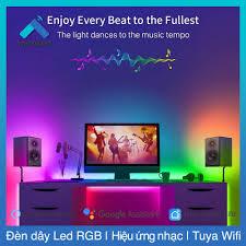 Bộ đèn LED dây RGB theo nhạc thông minh Wifi Tuya SmartLife - Hàng xuất  khẩu Âu Mỹ tốt giá rẻ