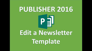 Microsoft Templates For Publisher Publisher 2016 Newsletter Template Design Tutorial How To Use Microsoft Templates Newsletters
