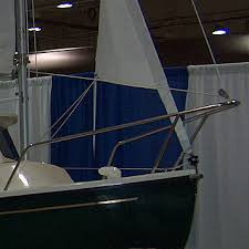 furling jpg a com pac 16 mark i need another forestay solution it has an aluminum pulpit using an extra halyard to the pulpit will work and you can leave the