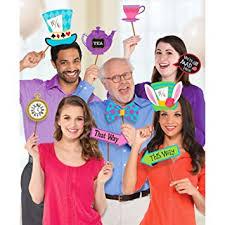 Fancy Dress VIP 13pcs Cardboard Mad <b>Tea Party Photo Booth</b> Prop ...