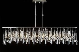 contemporary linear chandelier lamp