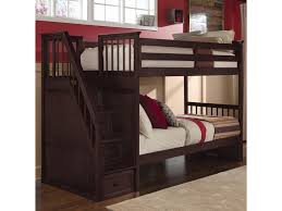 House Bunk Bed Ne Kids School House Twin Over Twin Bunk With Storage Stairs