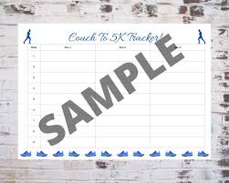 printable couch to 5k training plan and