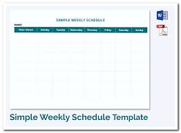 schedule plan template using weekly schedule template to help you plan your week
