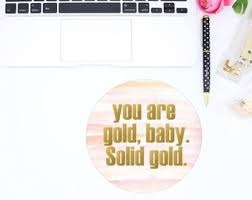 girly office accessories. Cute Mousepad - Gold Decor Office Pink Accessories Girly