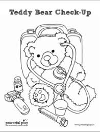 Small Picture Teddy Bear Check up Coloring Page Teddy bear Free printable and