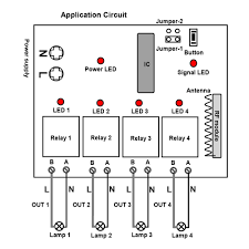 channel our automation here is the wiring diagram you can connect 4 ac lamps to ldquoa brdquo output terminals of receiver then supply power to receiver