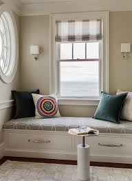 reading nook furniture. living room reading nook features a builtin window seat fitted with drawers topped gray interlocking circles cushion placed under dressed in furniture