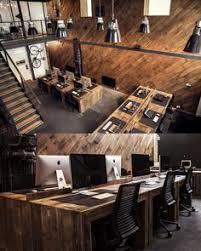industrial office decor. Beautiful Industrial Itu0027s Gorgeous Wooden Open Plan Office Intended Industrial Office Decor