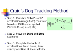42 craig s dog tracking method step 1 calculate