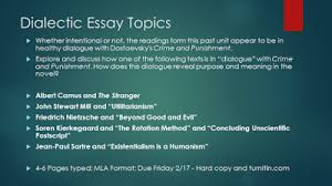 how to write a personal dialectic essay to help this students might consider taking semester long courses that the philosophy department offers