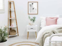 corner shelves furniture. Mocka Maya Corner Shelves With Doily Rug, Sonata Bed, Bedside Table And Penny Furniture