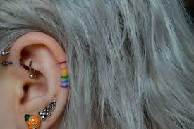 Rainbow Ear Tattoo Pride Proud Bold Beautiful Bright