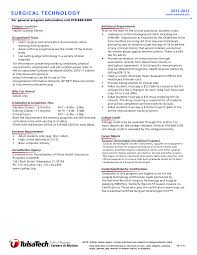 Surgical Technologist Resume Surgical Technologist Resume Resume Badak 11
