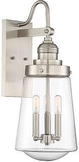 savoy house 5 2068 sn macauley modern satin nickel outdoor wall lighting sconce loading zoom