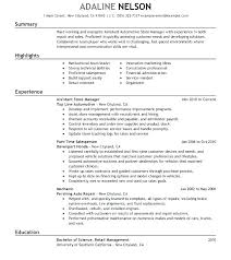Retail Manager Resume Examples Inspiration Examples Of Assistant Store Manager Resume Combined With Sample