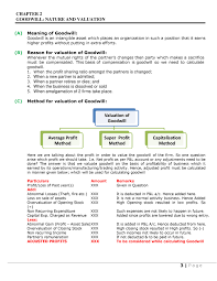 Goodwill Chapter Class Xii Notes