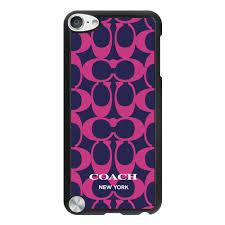 Have a sense of fashion Coach Big Logo Fuchsia Navy iPod Touch 5TH CAC
