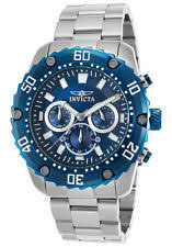 invicta pro diver wristwatches invicta men s 47mm pro diver quartz blue dial stainless steel watch 22517