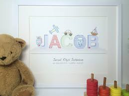 Print Name A Name On A Shelf Print Boys Little Letters With Love