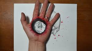 Cool Art Cool 3d Trick Art Bullet Hole In Hand Youtube