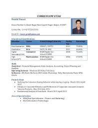 Standard Format Resume | Resume Format And Resume Maker