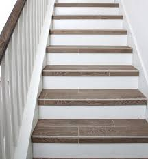 Tile Stairs Tiled Staircase Basement Stairs Stair Risers Stair - Painted basement stairs