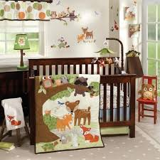 fox racing baby crib bedding nursery inspiring woodland tales 4 piece set bed image