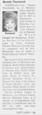 Obituary for Bonnie Thurmond (Aged 62) - Newspapers.com
