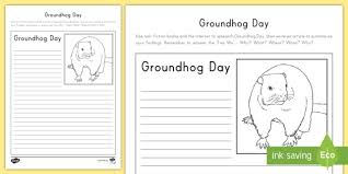 groundhog day writing worksheet activity sheet groundhog day groundhog day writing worksheet activity sheet groundhog day worksheet winter hibernation