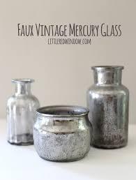 diy faux vintage mercury glass