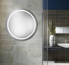mirror with integrated lighting. Elegant Lighting MRE-6007 Element Modern Glossy White LED 42\u0026nbsp; Round Mirror With Integrated O