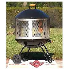 wood burning patio fire pits. Outdoor Wood Fire Pit Fireplace Patio Ring Metal Portable Modern Design Large W . Burning Pits