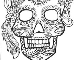 Small Picture Sugar Skull Coloring Pages Bestofcoloringcom