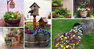 affordable wine barrel planters