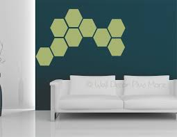 hexagon wall stickers shapes vinyl decals honeycomb art d cor 9inch olive green on wall art decoration vinyl decal sticker with hexagon wall stickers shapes vinyl decals honeycomb art d cor 9inch