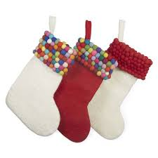 Handmade Christmas Stockings Handmade Felt Ball Christmas Stocking By Felt So Good