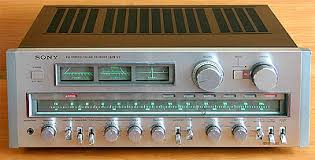 vintage sony receiver. sony comes to mind, cheap´ish (at least less money than sansui and kenwood etc.) good build quality, amazing sound looks vintage receiver k