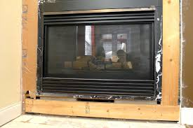 how to install gas fireplace insert ventless gas fireplace insert with logs
