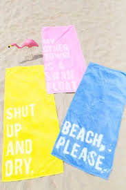 beach towels on the beach. 11 DIYs You Need To Do Before Hit The Beach Towels On